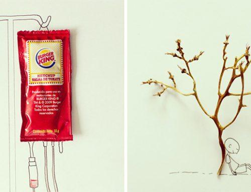 Objetos cotidianos convertidos en curiosas ilustraciones